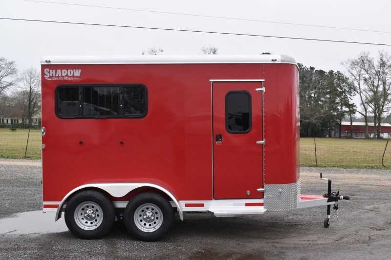 New 2021 Shadow 2HBPDLX 2 Horse Trailer with 2' Short Wall