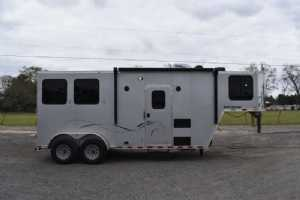 New 2022 Harmar Dixie Outlaw 7206LQ 2 Horse Trailer  with 6' Short Wall