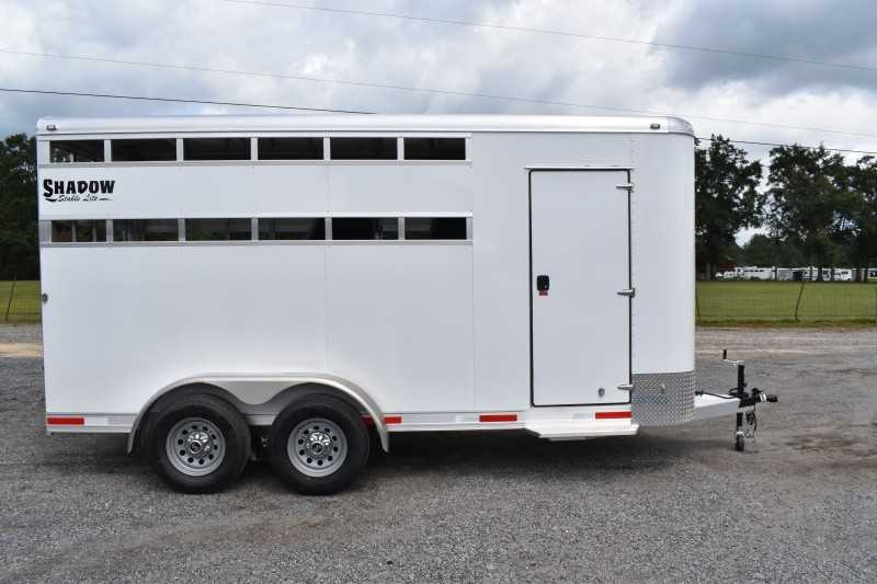 New 2022 Shadow 3HBPSL 3 Horse Trailer with 2' Short Wall