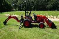 New 2021 Branson 2505H Back Hoe Tractor