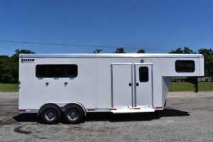 New 2019 Shadow 3HGNSMT Stable Mate 3 Horse Trailer  with 4' Short Wall