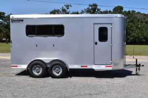 New 2022 Shadow 3HBPDLX 3 Horse Trailer  with 2' Short Wall