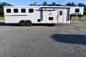 New 2022 Bison Ranger 8411B 4 Horse Trailer  with 11' Short Wall