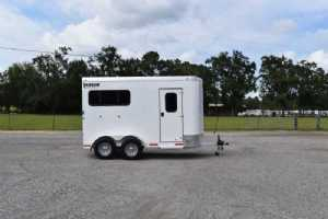 New 2022 Shadow 2HBPSL 2 Horse Trailer  with 2' Short Wall