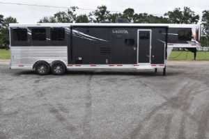 New 2022 Lakota Charger 8313SRGLQ 3 Horse Trailer  with 13' Short Wall