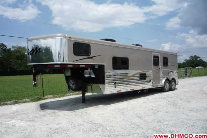 #02139 - New 2012 Bison Trail Express 8210LQ 2 Horse Trailer  with 10' Short Wall