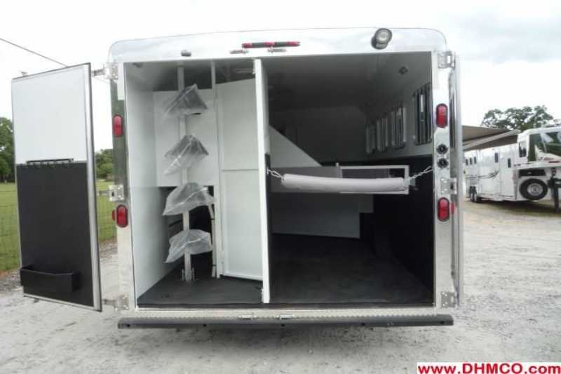 #02134 - New 2012 Bison Ranger 8411SO 4 Horse Trailer  with 10' Short Wall