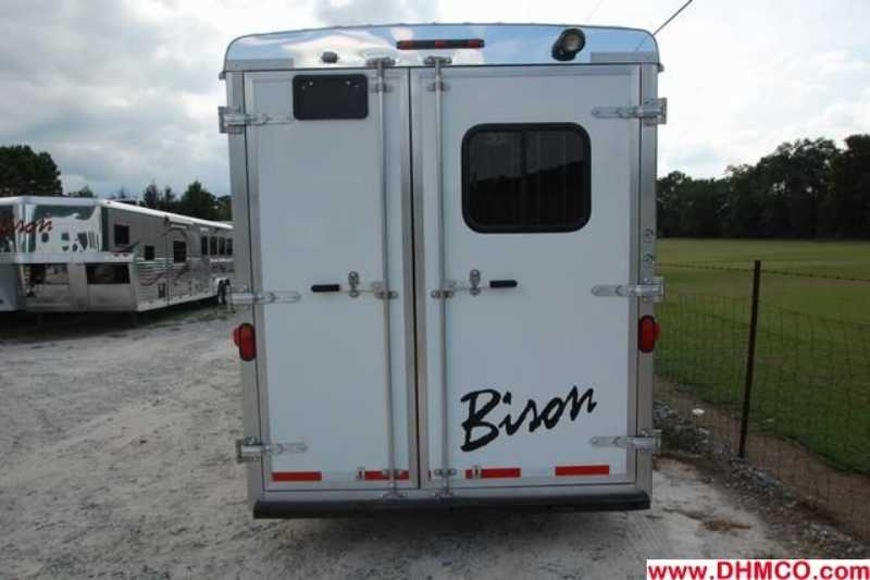 New 2012 Bison Stratus 4 Horse Slant Trailer