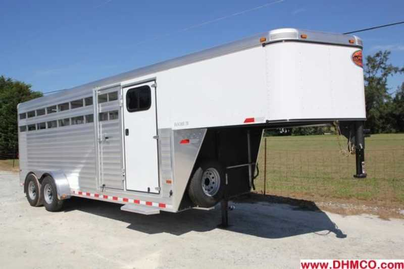 #A6536 - New 2013 Sundowner RANCHER20GNTR Stock Trailer with 4' Short Wall