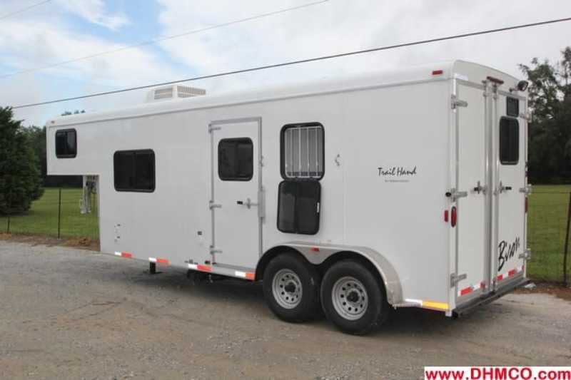 #02530 - New 2013 Bison Trail Hand 7208 2 Horse Trailer  with 8' Short Wall