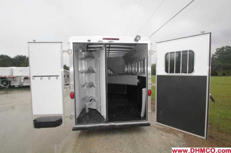 #02550 - New 2013 Bison Trail Boss 7408 4 Horse Trailer  with 8' Short Wall