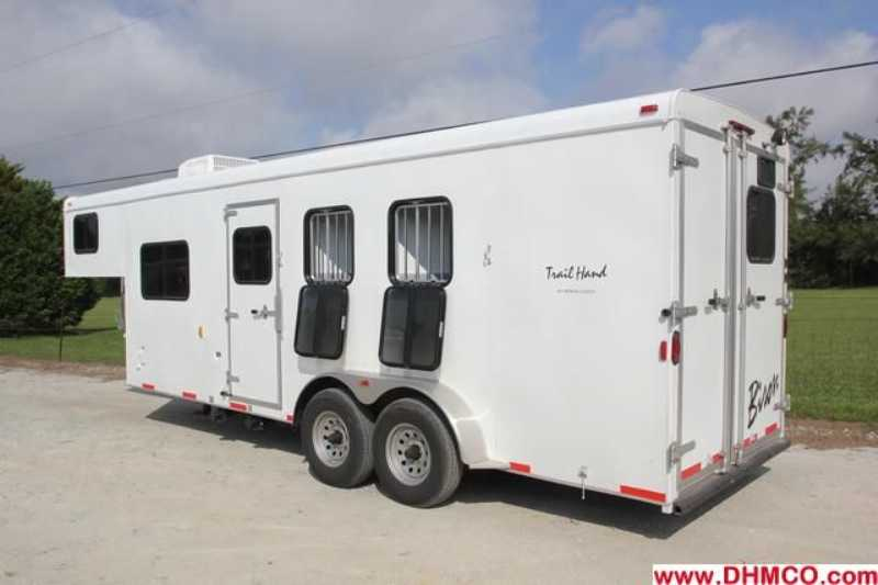#02599 - New 2013 Bison Trail Hand 7306S 3 Horse Trailer  with 6' Short Wall