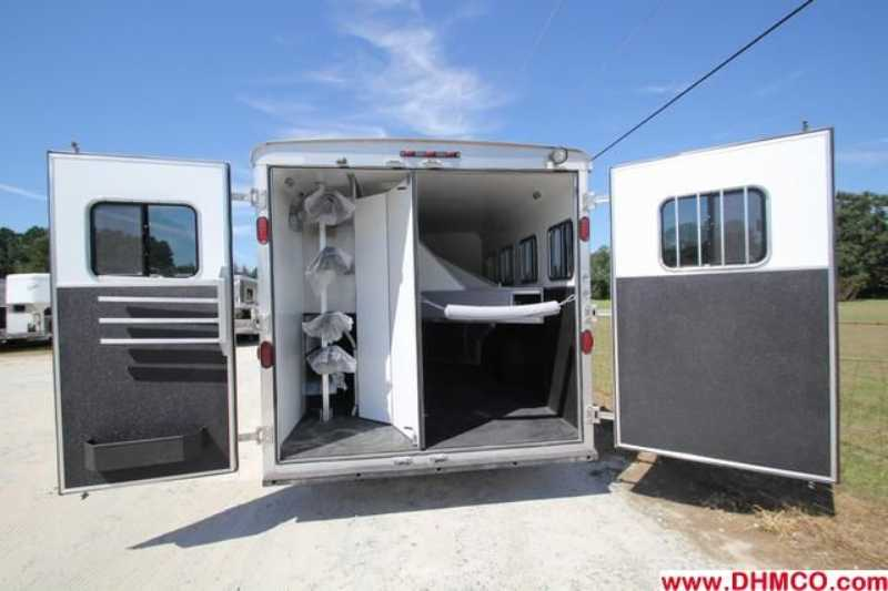 New 2013 Bison Stratus 4 Horse Slant Trailer