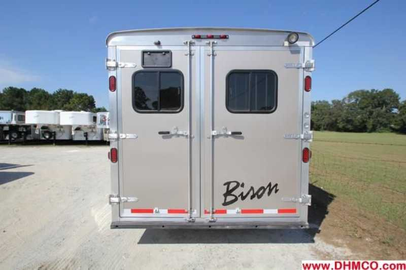 #02637 - New 2013 Bison Silverado 8316GLQRK 3 Horse Trailer  with 16' Short Wall