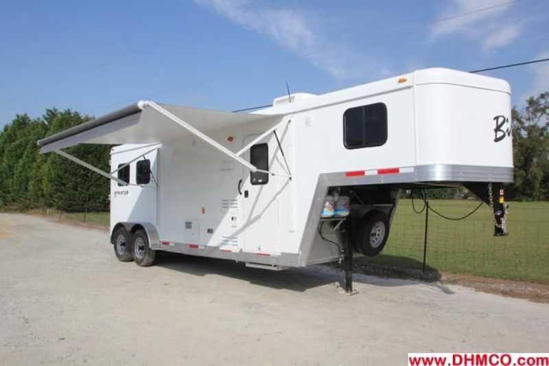 #02655 - New 2013 Bison Trail Boss 7208 2 Horse Trailer with 8' Short Wall