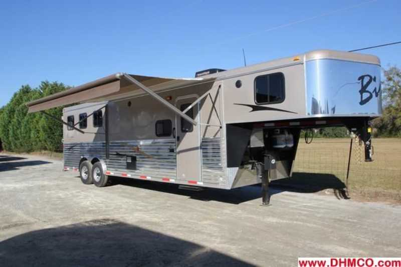 #02662 - New 2013 Bison Ranger 8311SO 3 Horse Trailer  with 10' Short Wall