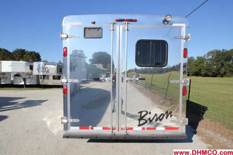 #02663 - New 2013 Bison Ranger 8311SO 3 Horse Trailer  with 10' Short Wall