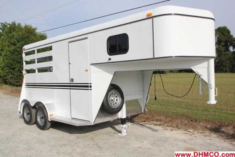 #77597 - New 2013 Bee 2HSLGN 2 Horse Trailer with 2' Short Wall