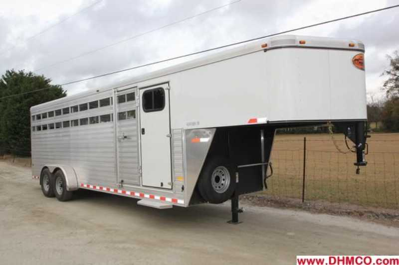 #A6981 - New 2013 Sundowner RANCHER24GNTR Stock Trailer with 4' Short Wall