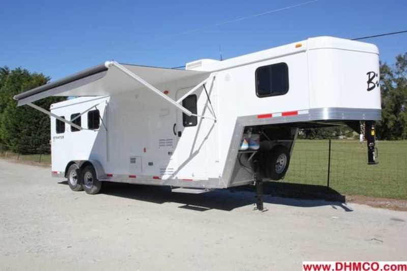 #02741 - New 2013 Bison Trail Boss 7308 3 Horse Trailer  with 8' Short Wall