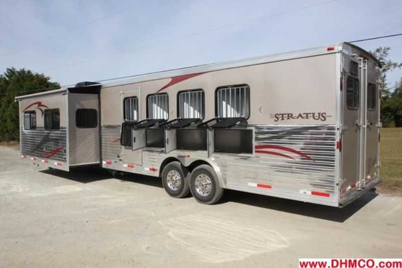 #02740 - New 2013 Bison Silverado 8416SS 4 Horse Trailer  with 16' Short Wall