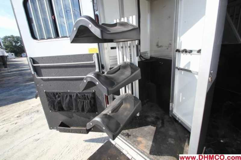 #A4757 - Used 2007 Sundowner 8314LQ 3 Horse Trailer  with 14' Short Wall