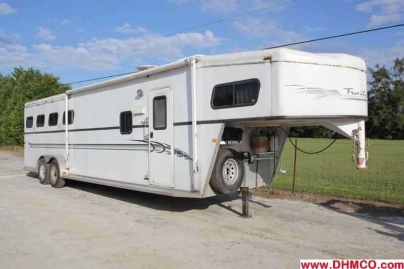 Used 2003 Trails West 4 Horse Slant Trailer