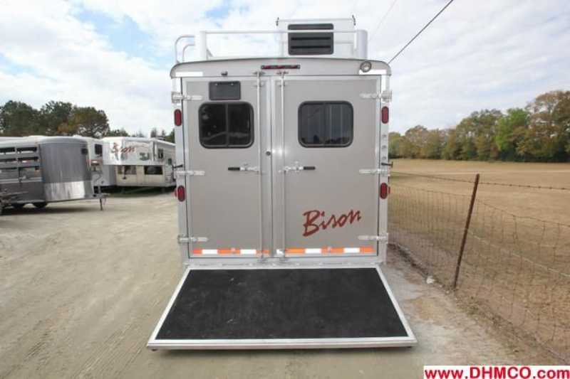 #02792 - New 2013 Bison Premiere 8317SSDSUG 3 Horse Trailer  with 17' Short Wall