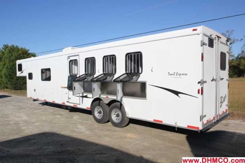 #02793 - New 2013 Bison Ranger 8414L 4 Horse Trailer  with 14' Short Wall