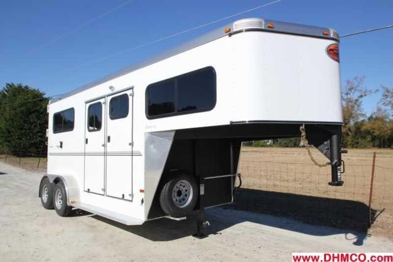#7189s - New 2013 Sundowner CHARTER2HGNTRSE 2 Horse Trailer with 4' Short Wall