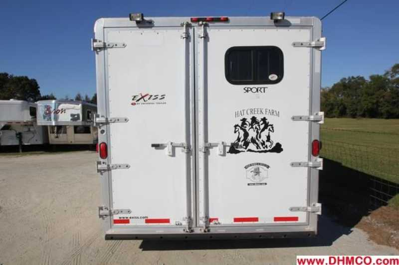 #40835 - Used 2007 Exiss ES8312GLQ 3 Horse Trailer  with 12' Short Wall