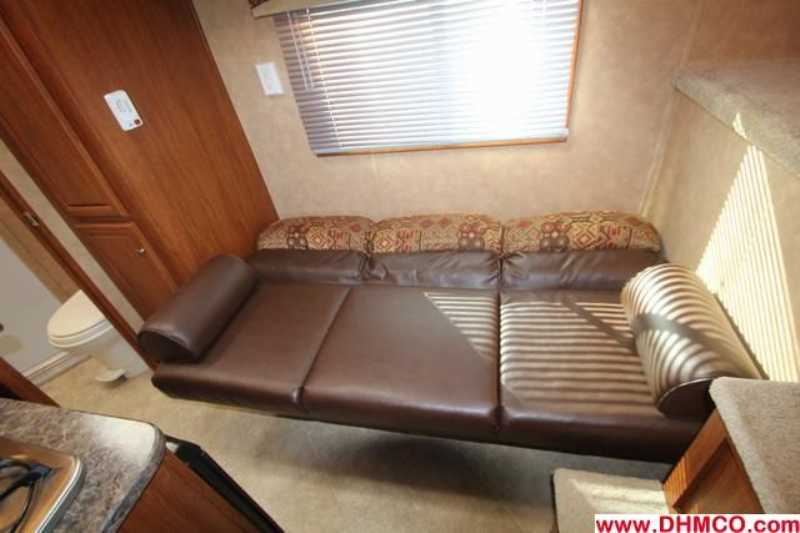 #00882 - Used 2011 Bison 7380LQ 3 Horse Trailer  with 8' Short Wall