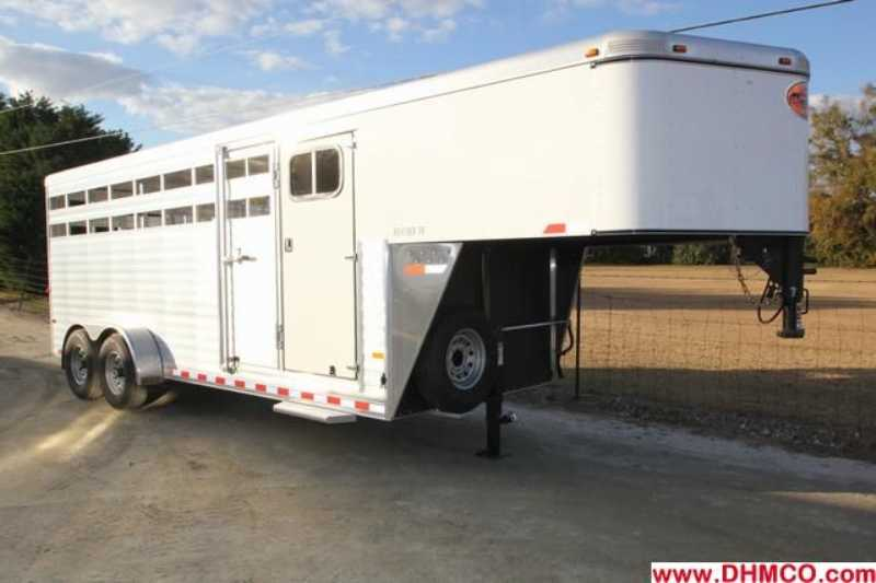 #A6979 - New 2013 Sundowner RANCHER20GNTR Stock Trailer with 4' Short Wall