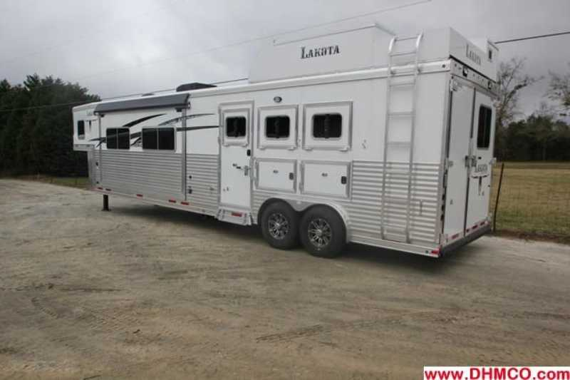 #87328 - New 2013 Lakota 8316GLQ BIGHORN UG 3 Horse Trailer  with 16' Short Wall
