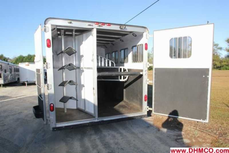 #31900 - Used 2008 Merhow 8480LQ 4 Horse Trailer  with 8' Short Wall