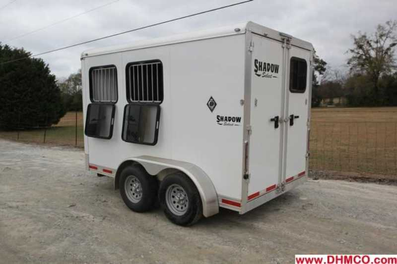 Used 2012 Shadow 2 Horse Slant Trailer