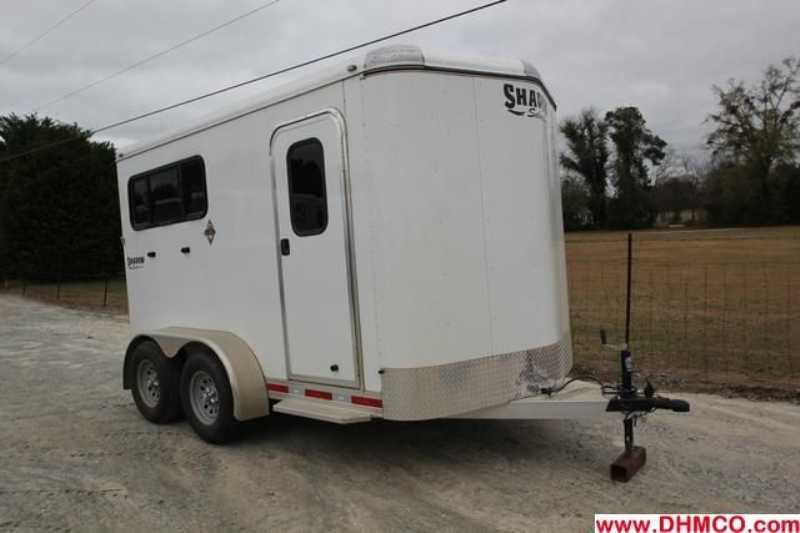 #73046 - Used 2012 Shadow 2HBP 2 Horse Trailer with 2' Short Wall
