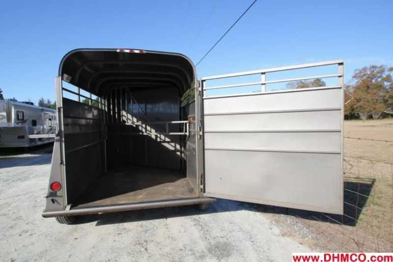 #80003 - Used 2008 Longhorn 2HSL 2 Horse Trailer  with 2' Short Wall