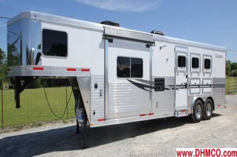 #87091 - New 2014 Lakota Charger 8313RKGLQ 3 Horse Trailer with 13' Short Wall