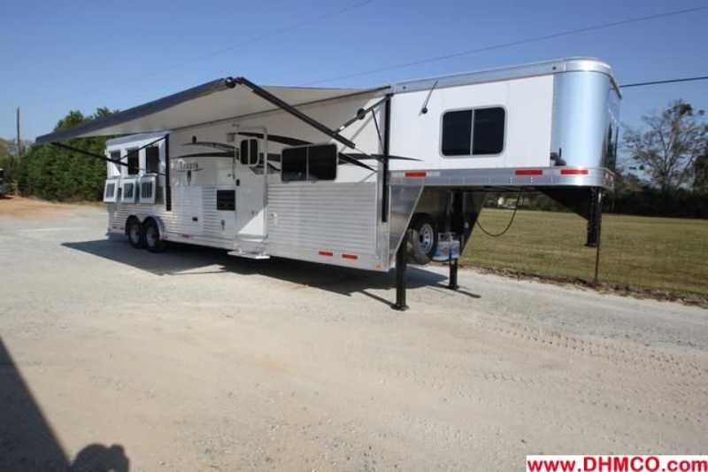 #87094 - New 2014 Lakota 8314GLQ BIGHORN 3 Horse Trailer  with 14' Short Wall