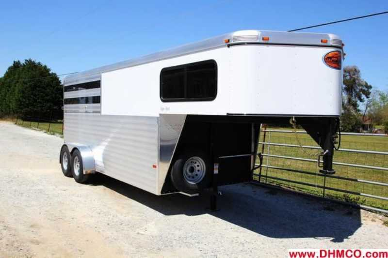 #A7656 - New 2014 Sundowner SS3HGN 3 Horse Trailer with 4' Short Wall