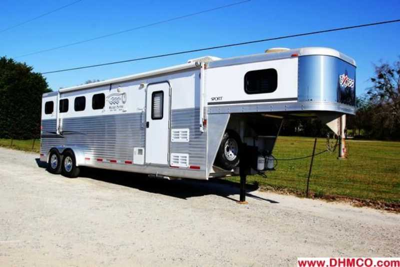 #36057 - Used 2006 Exiss ES407ELQ 4 Horse Trailer with 7' Short Wall