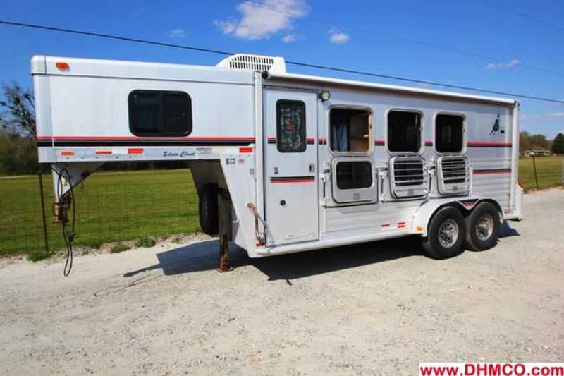 #01826 - Used 1998 Cherokee Silver Cloud 2 Horse Trailer  with 4' Short Wall