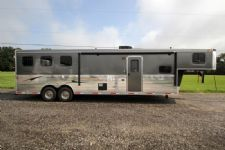 #03450 - New 2014 Bison Trail Express 8312GLQ 3 Horse Trailer  with 12' Short Wall