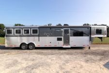 #87496 - New 2014 Lakota 8414GLQ BIGHORN 4 Horse Trailer  with 14' Short Wall