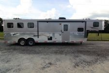 #03520 - New 2014 Bison Trail Express 8312GLQ 3 Horse Trailer  with 12' Short Wall