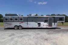 #03517 - New 2014 Bison Silverado 8416LQ Super Glide UG 4 Horse Trailer  with 16' Short Wall