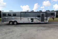#03527 - New 2014 Bison Laredo 8316GLQ 2 Horse Trailer  with 16' Short Wall