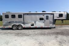#03614 - New 2014 Bison Trail Express 8310GLQ 3 Horse Trailer  with 10' Short Wall