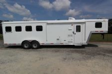 #03625 - New 2014 Bison Stratus LT 7480LQ 4 Horse Trailer  with 8' Short Wall